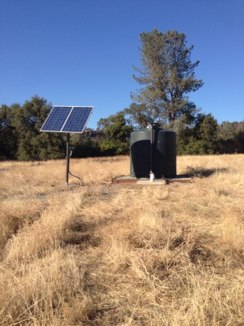 My new water source. SOLAR, you guys! SOLAR!!!